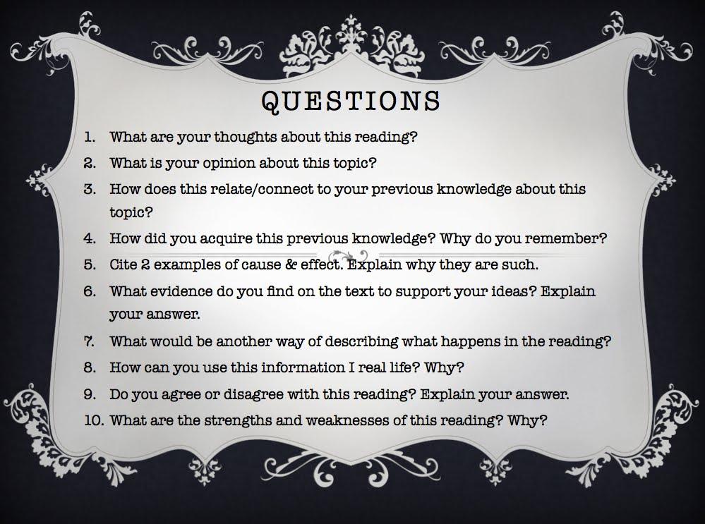 Socratic Questions | 5JWS & 5JSN